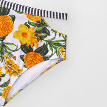 Load image into Gallery viewer, Padded High-Waisted Bikini | Yellow Floral Paradise_wantmustneed.com