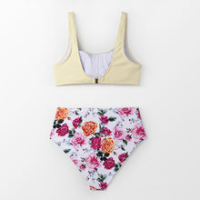 Load image into Gallery viewer, wantmustneed.com / Padded High-Waisted Bikini | Tie-Front Tank And Boho Floral [variant_title]
