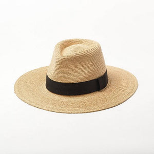 wantmustneed.com / Handmade Panama Sun Hat | Fine Raffia Straw Bella With Trim / One Size