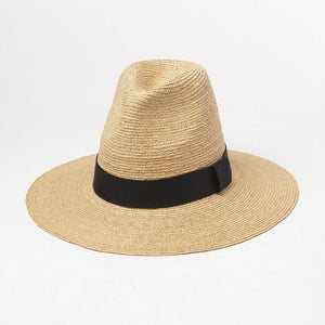 wantmustneed.com / Handmade High Sun Hat | Fine Raffia Straw Sofia With Trim / One Size