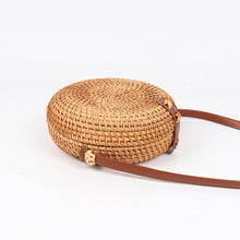 Load image into Gallery viewer, wantmustneed.com / Round Handmade Rattan Bag | Bohemian Circle [variant_title]