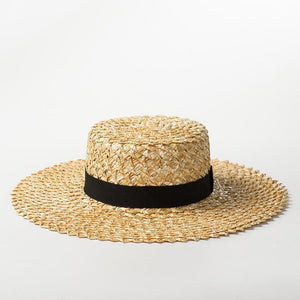 wantmustneed.com / Handmade Boater Sun Hat | Rough Raffia Cora [variant_title]