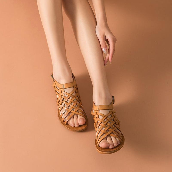 Genuine Leather Sandals | Gladiator Hayden_wantmustneed.com