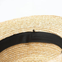 Load image into Gallery viewer, wantmustneed.com / Handmade Boater Sun Hat | Fine Straw Harper [variant_title]