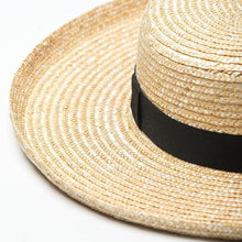 Load image into Gallery viewer, Handmade Boater Sun Hat | Fine Straw Harper_wantmustneed.com