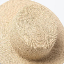 Load image into Gallery viewer, Handmade Boater Sun Hat | Fine Raffia Nova_wantmustneed.com