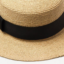 Load image into Gallery viewer, Handmade Boater Sun Hat | Fine Raffia Leah_wantmustneed.com