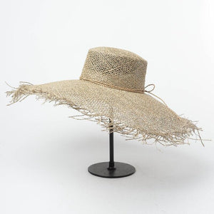 Handmade Wide Brim Sun Hat | Sea Straw Floppy Layla_wantmustneed.com