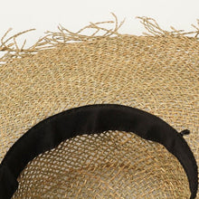 Load image into Gallery viewer, Handmade Wide Brim Sun Hat | Sea Straw Floppy Nora_wantmustneed.com