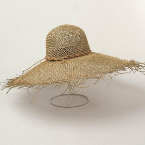 Handmade Wide Brim Sun Hat | Sea Straw Floppy Nora_wantmustneed.com