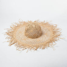 Load image into Gallery viewer, wantmustneed.com / Handmade Wide Brim Sun Hat | Raffia Straw Floppy Blaine [variant_title]
