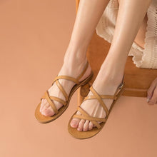 Load image into Gallery viewer, Genuine Leather Sandals | Cross-Tied Melanie_wantmustneed.com