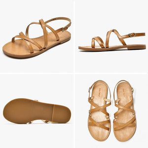 Genuine Leather Sandals | Cross-Tied Melanie_wantmustneed.com