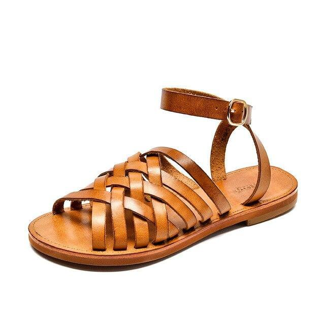 Genuine Leather Sandals | Gladiator Camille_wantmustneed.com