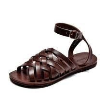 Load image into Gallery viewer, Genuine Leather Sandals | Gladiator Camille_wantmustneed.com