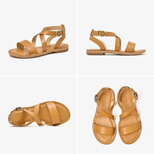Load image into Gallery viewer, Genuine Leather Sandals | Cross-Tied Lola_wantmustneed.com