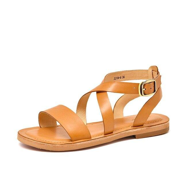 Genuine Leather Sandals | Cross-Tied Lola_wantmustneed.com