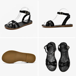 Genuine Leather Sandals | Cross-Tied Adelyn_wantmustneed.com