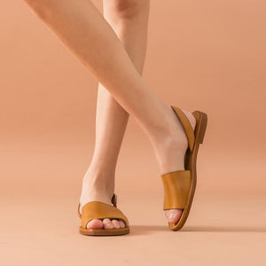 Genuine Leather Sandals | Slingback Leila_wantmustneed.com