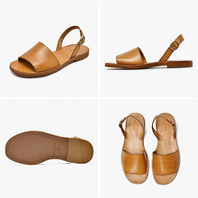 Load image into Gallery viewer, Genuine Leather Sandals | Slingback Leila_wantmustneed.com