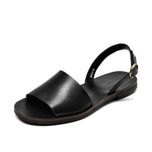 wantmustneed.com / Genuine Leather Sandals | Slingback Leila Black / 5