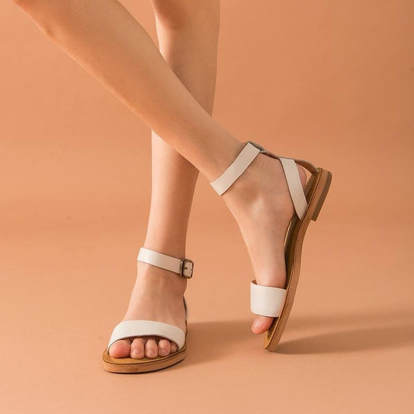 Genuine Leather Sandals | Ankle Wrap Kylie_wantmustneed.com