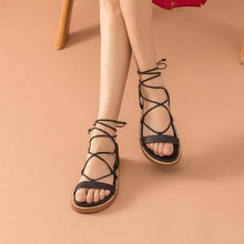 Load image into Gallery viewer, Genuine Leather Sandals | Gladiator Lace-Up Piper_wantmustneed.com