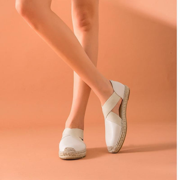Genuine Leather Sandals | Espadrilles Loafers Natalie_wantmustneed.com