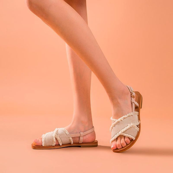 Genuine Leather Sandals | Fringe Addison_wantmustneed.com