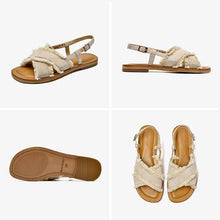 Load image into Gallery viewer, wantmustneed.com / Genuine Leather Sandals | Fringe Addison [variant_title]