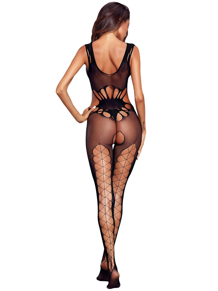 21264ae3669 Women transparent hollow out mesh body stocking – Fashion Women ...