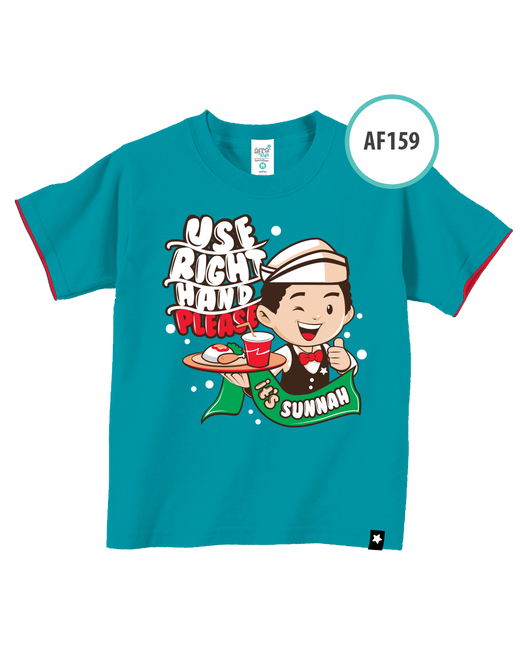 Kaos Anak AF159 Use Right Hand Please by Afra Kids - Alhigam