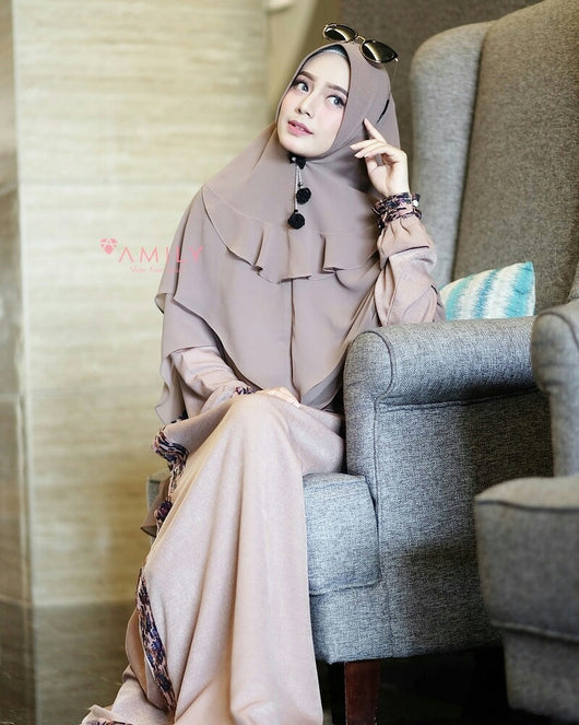 IXIA Dress Set by Amily Hijab - Alhigam