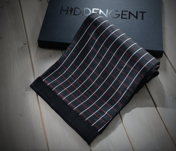 Black & Red Checked Scarf