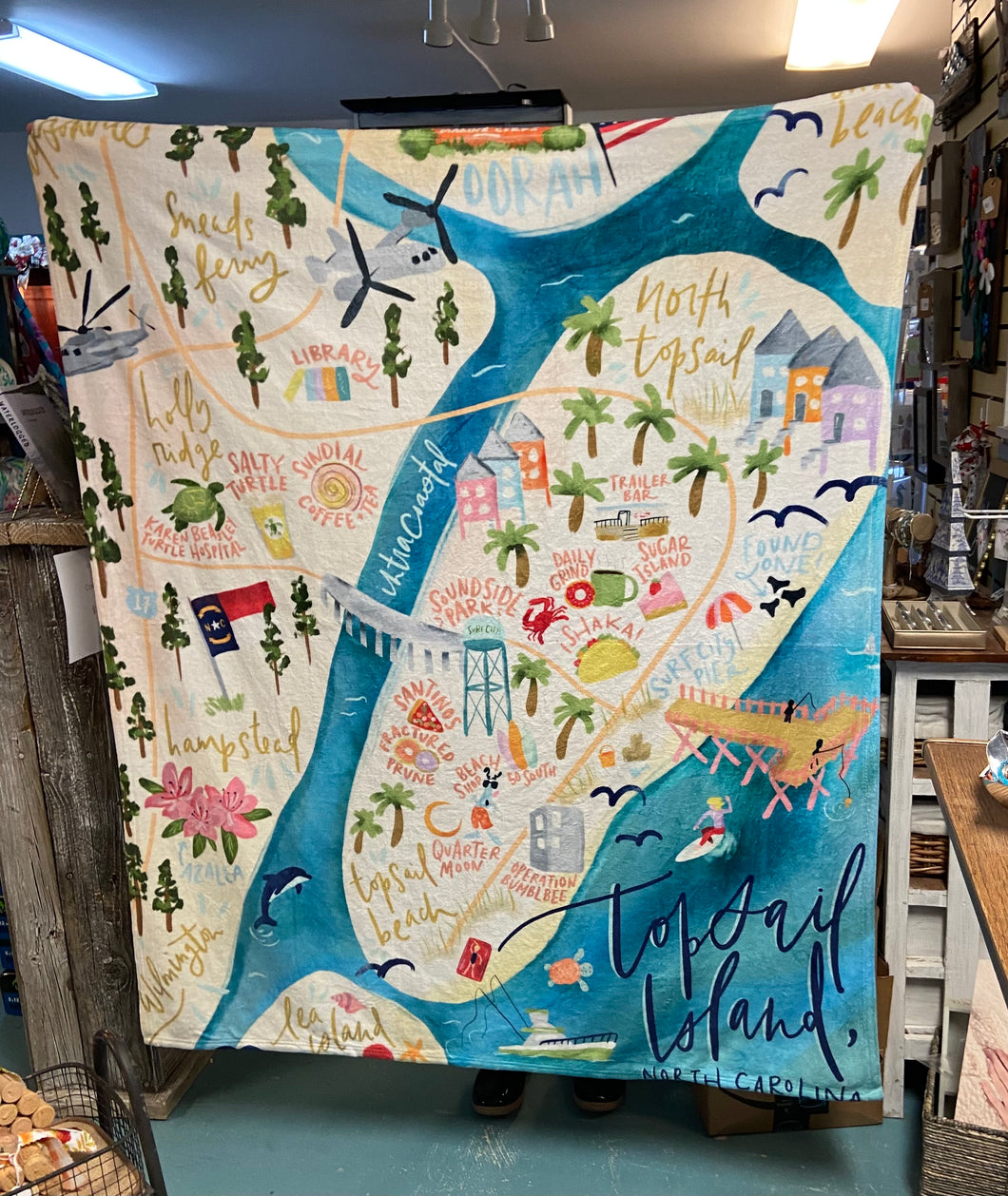 Topsail Throw Blanket