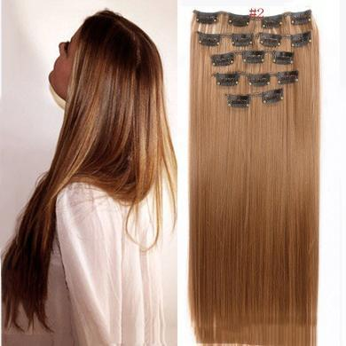 16 Clips Hairpiece In Hair Extension