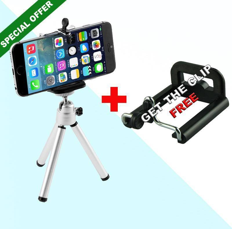 Mini Professional Tripod + Free Clip Holder