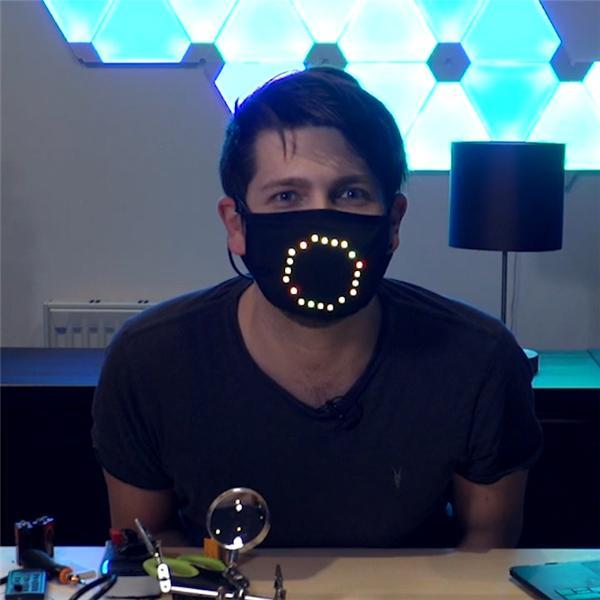 LED Voice Active Face Cover