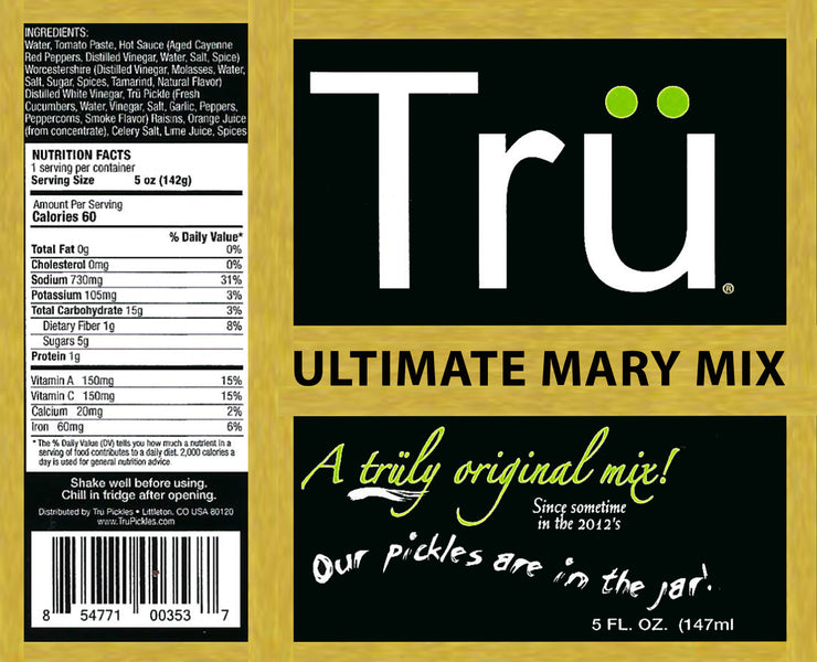 Tru Ultimate Mary Mix & More - Single Serve (pack of 12)