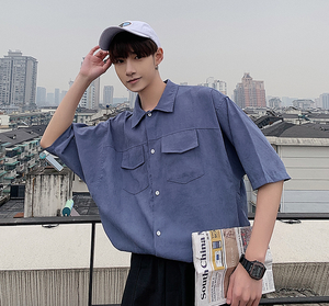 [Korean Style] Casian Oversized 1/2 Shirts