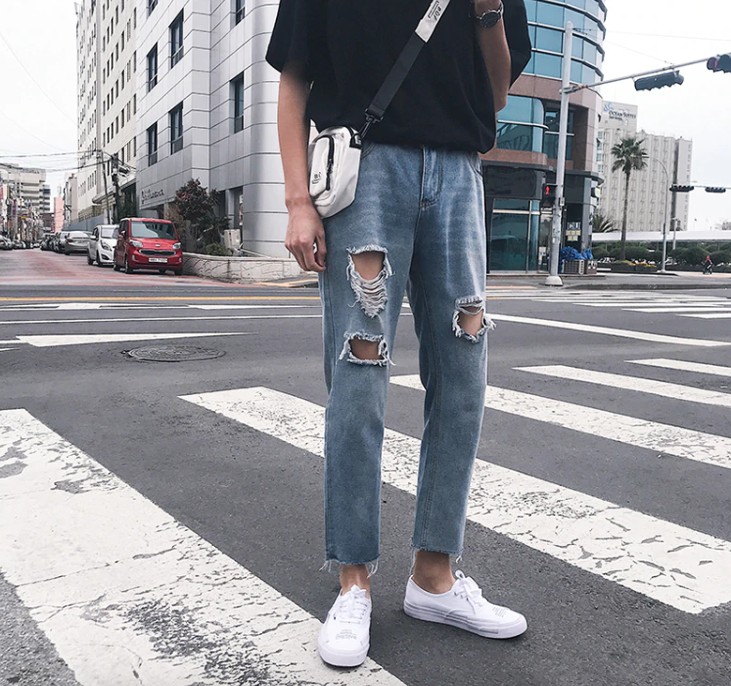 [Korean Style] 3 Colors Sand Wash Jeans