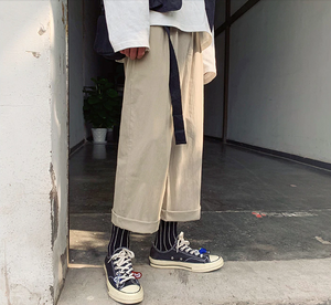 [Korean Style] Den Nine Points Cargo Pants