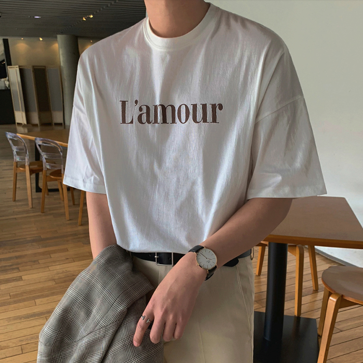 [Korean Style] L'amour Printing 1/2 T-Shirts