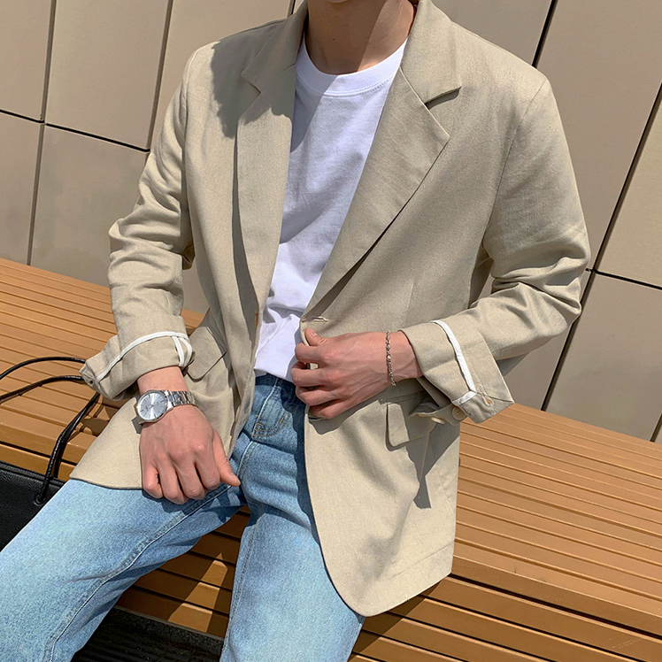 [Korean Style] Bartose Single-Breasted Casual Blazers