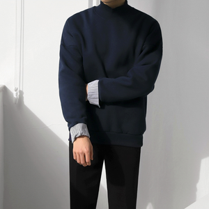 [Korean Style] Vian Solid Turtleneck Sweatshirts