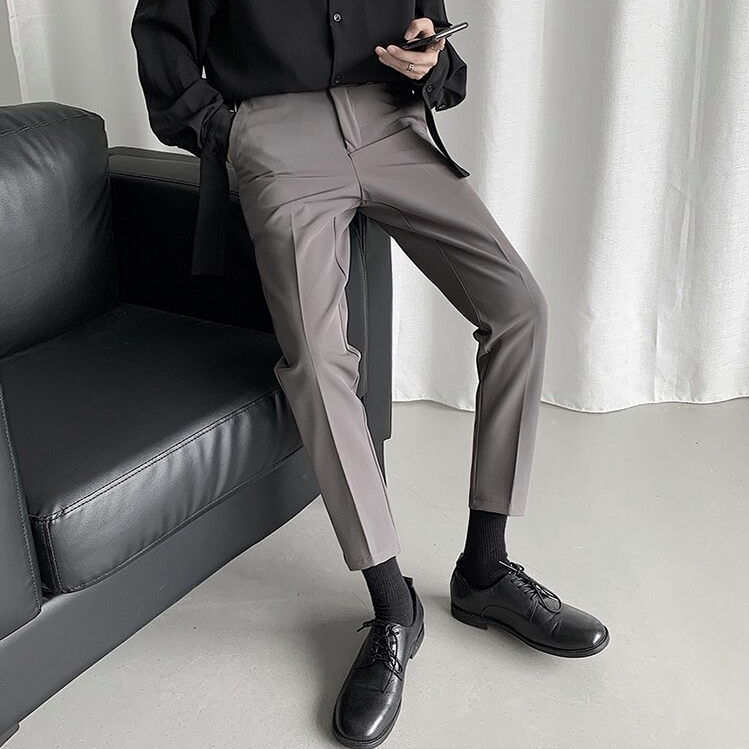 [Korean Style] 4 Colors Ankle-cut Straight Casual Pants