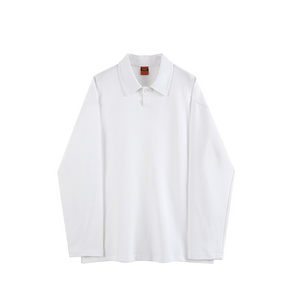[Korean Style] 3 Colors Long-Sleeved Polo Shirts