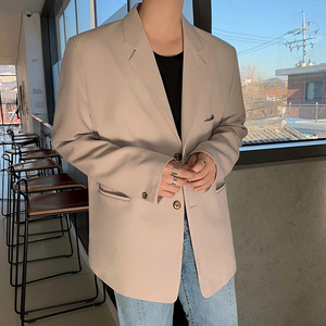[Korean Style] 2 Colors Single-breasted Suit Jackets