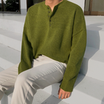 [Korean Style] 2 Colors Button Knitted Sweaters
