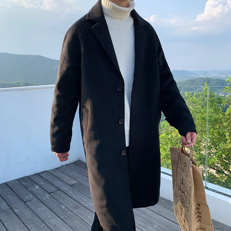 [Korean Style] Mary Woolen Blend Overcoats
